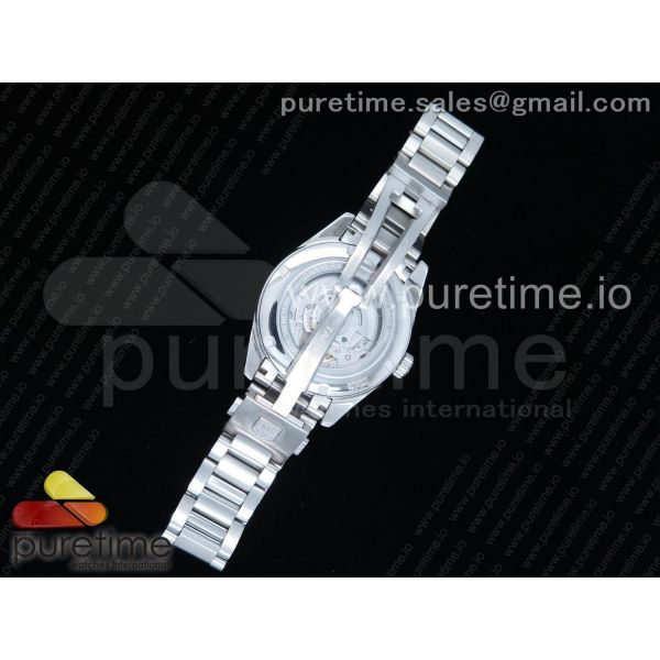 Carrera Calibre 5 41mm SS White Dial Silver Markers on SS Bracelet A2836