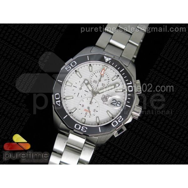 Aquaracer 300M Chronograph SS Grey Dial on SS Bracelet JAP Quartz