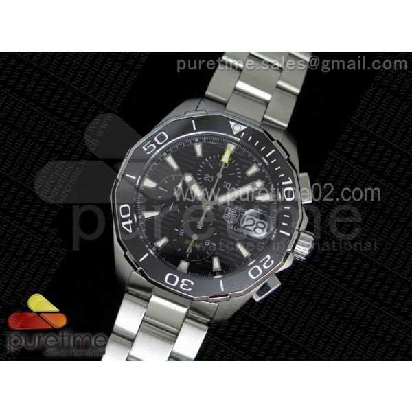 Aquaracer 300M Chronograph SS Black Dial on SS Bracelet JAP Quartz