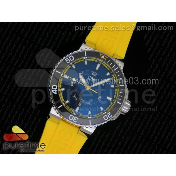 Great Barrier Reef Limited Edition II SS Black Dial on Yellow Rubber Strap A2836