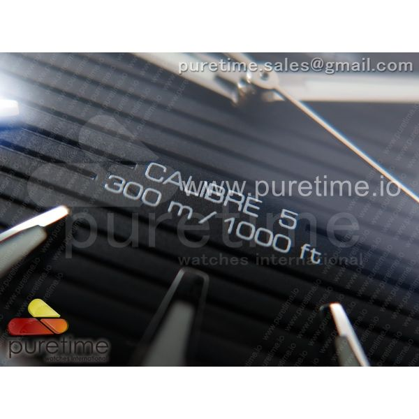 Aquaracer Calibre 5 SS 40.5mm OXF 1:1 Best Edition SS Bezel Black Dial on SS Bracelet SW200