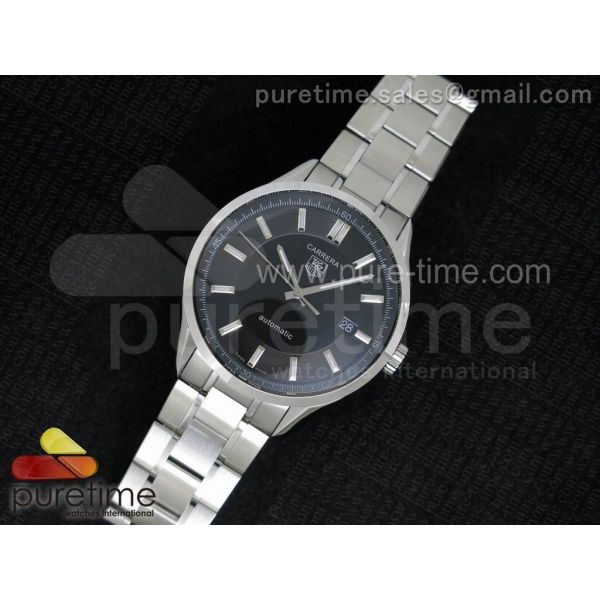 Carrera Automatic SS Black Dial on SS Bracelet A2824