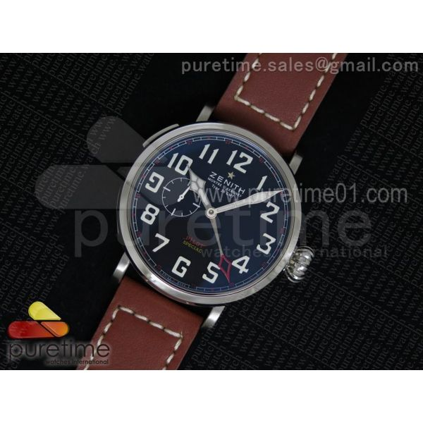 Pilot Type 20 GMT SS Black Dial on Red Leather Strap A23J